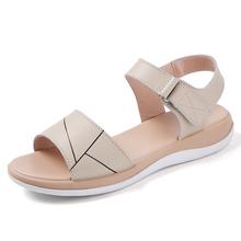 Letnie sandały damskie damskie miękkie i wygodne sandały sandały na płaskim obcasie z wystającym palcem buty na plażę buty damskie sandały dla kobiet tanie tanio damyuan RUBBER Med (3 cm-5 cm) 0-3 cm Pasuje prawda na wymiar weź swój normalny rozmiar sandals for women Slajdy Płytkie