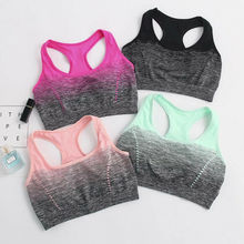 Sports yoga High Stretch Breathable Bra Top Fitness Women Padded Sport