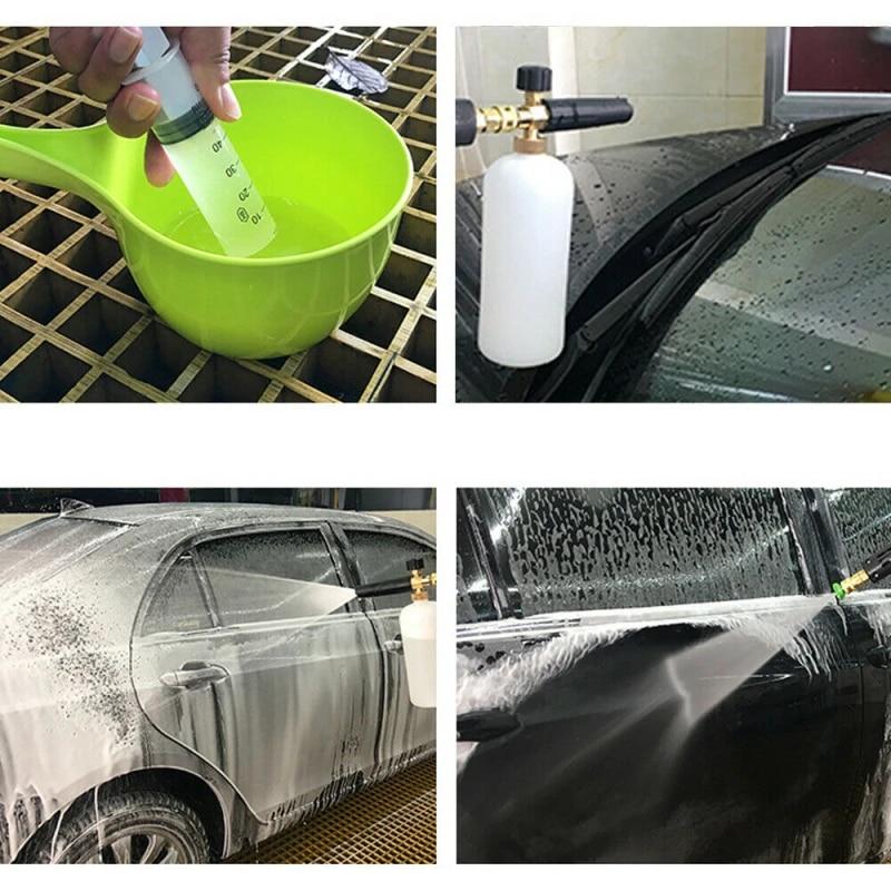"Pressure Washer Gun 1//4/"" Snow Foam Lance Cannon Spray Car Wash Soap Jet Bottle"