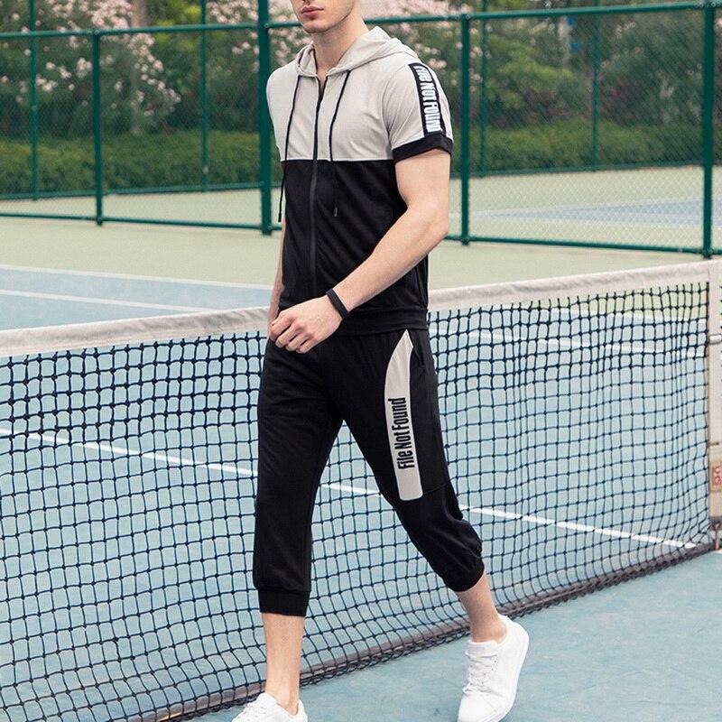 LASPERAL Casual Men's Suit Sport Casual Fashion Black And White Gym Suit Fashion Sukienki Plus Size Spring Streetwear Men Suit