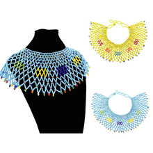 Handmade Resin Beads Bib Choker Necklace collar Women Wedding Bohemian Beaded Statement Collares Collier Ethnic Jewelry Gift
