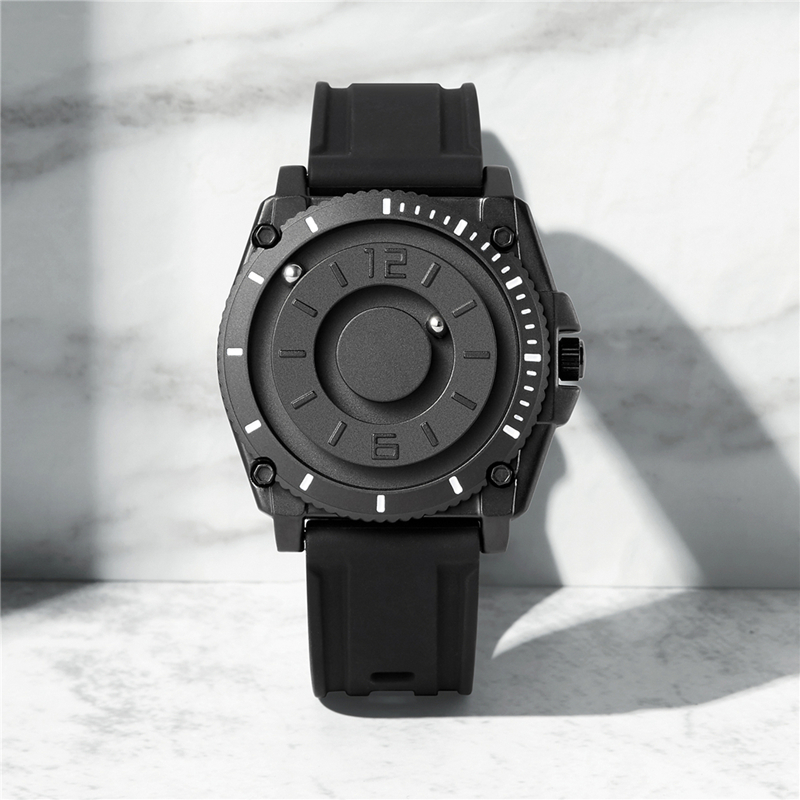 Eutour magnetic watch parallel time and space black technology men s couple wristwatch women s wristwatch Innrech Market.com