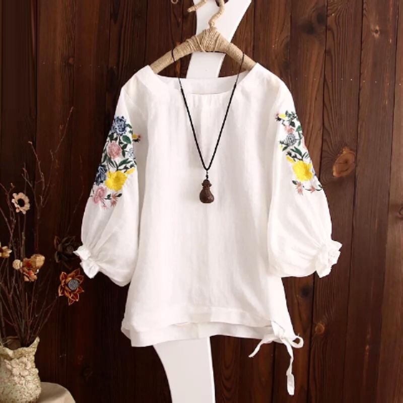 Floral Embroidery Tops 1