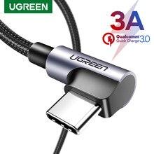 Ugreen 3A USB Typ C Kabel für Samsung S20 S10 Xiaomi Quick Charge 3,0 USB C Schnelle Lade Daten Kabel für Spiel USB-C Draht Kabel