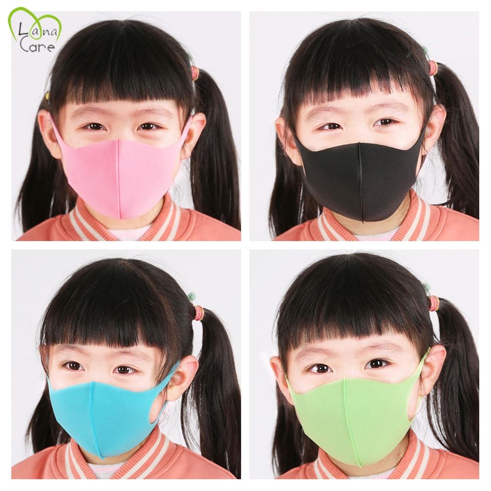 3PCS Childern Mask Sponge Dustproof Masks Proof Pollution Cycling Face Mask For Kids