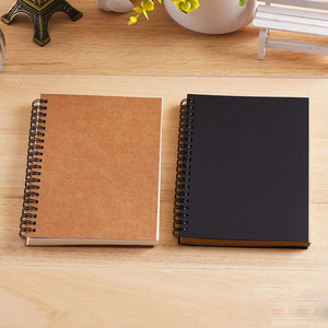 Notebook Spiral Sketchbook Graffiti Notebook for school supplies Size A5&A6 100 pages Kraft paper cover Notebook blank page