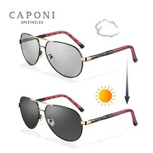 Image 2 - Мужские поляризационные солнцезащитные очки CAPONI Pilot, фотохромные солнцезащитные очки для вождения, новый дизайн 2020, Gafas de sol Masculino BS8725