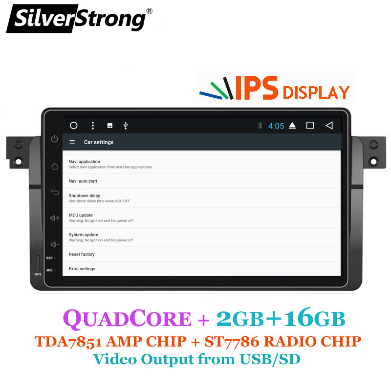 SilverStrong Android9inch Car DVD GPS Radio tape recorder stereo For BMW  E46 318 320 3 Series dvd player receiver navigation