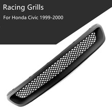 Hot Sale Racing Car Front Grill Hood Grills Grille Type R Black ABS For Honda Civic 1999-2000 Car Grill B-FG001 w447 vito diamonds style front grille grill fit for mercedesmb v class abs black sport without sign v260 v250 look grills 16 19
