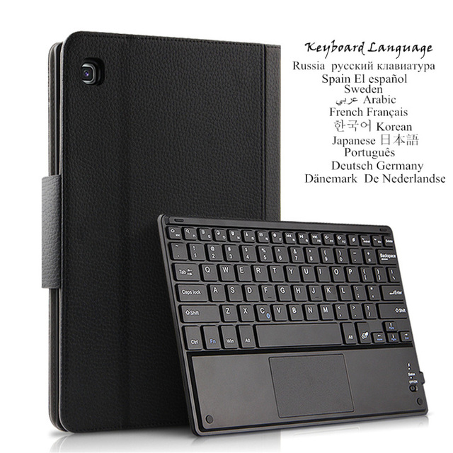 Кожаный чехол для Samsung Galaxy Tab A 10,1 2019 SM-T510 T515 чехол Беспроводная Bluetooth Клавиатура Защитный кожаный чехол