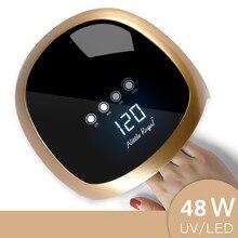 UV LED مصباح 48 واط الذهب مسمار مجفف العلاج بالضوء جهاز العناية بالقدم علاج هلام البولندية مسمار مصباح مسمار أداة فنية مانيكير باديكير أداة