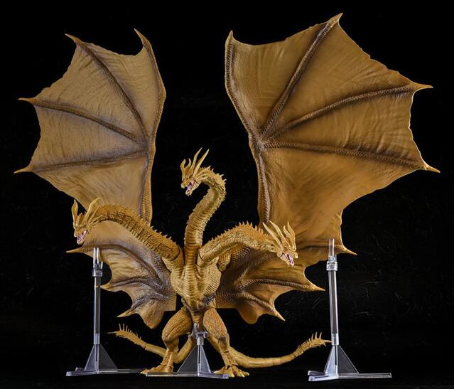 2019 New Version Movie Gojira 3 Heads Golden Dragon King Ghidorah Joints Moveable PVC Action Figure Collectible Model Toys