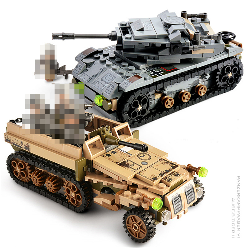 1061PCS Tank Building Blocks Toys Mini figures Vehicle Aircraft Boy Educational Block Military Compatible LegoINGlys Bricks (3)