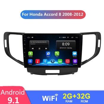 9 Android 9.1 2 din autoradio stéréo pour Honda Accord 8 2008-2012 voiture multimédia lecteur vidéo Navigation GPS No 2din Dvd