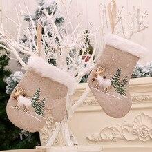 Weihnachten Harz Handschuhe/socke Puppe Kreative Weihnachten Dekorationen Spielzeug Anhänger Puppe Kreative рождество новый год navidad natal 112