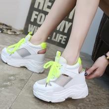 Outdoor Sandals Sport-Sneakers Platform Shoes Women Female Girls Breathable Heel Mesh