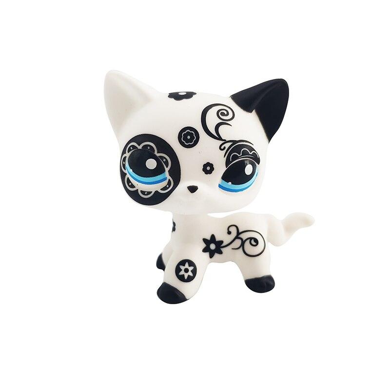 2020 Rare Animal Pet Shop LPS Toy White Cat Original Picture Shepherd Cocker Spaniel Great Danish Kid Children Toy Gift