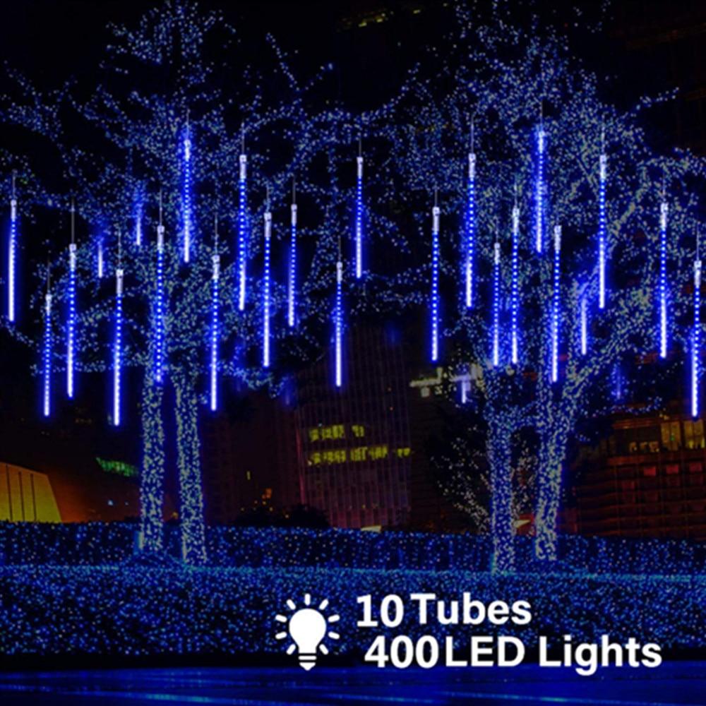 de meteoros tubos 400led luz ao ar