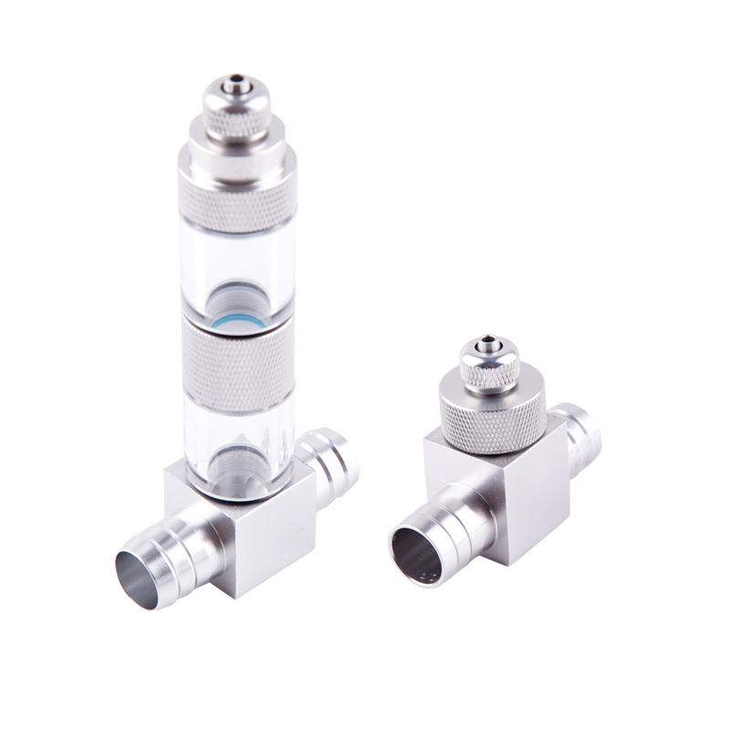 Aquarium External CO2 Diffuser Stainless Steel DIY CO2 System Atomizer Reactor Set Bubble Counter for Fish Tank Plant Grass