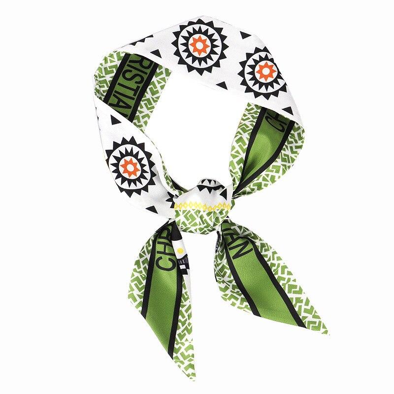 Новинка 2020 длинный маленький шелковый шарф украшение на шею