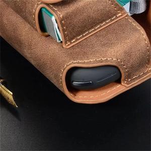 Image 3 - JINXINGCHENG funda portátil de cuero con gancho abatible para IQOS 3,0, 5 colores, funda cartuchera, Funda de cuero, doble bolsa, accesorios