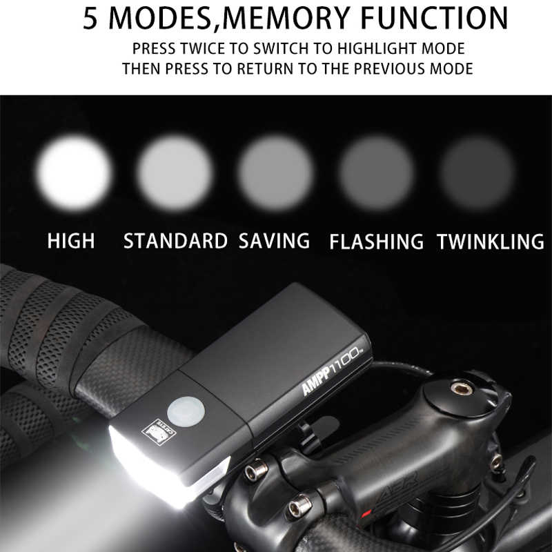 CATEYE Waterproof Cycling Bike Head Light USB Rechargeable LED 1100Lumens