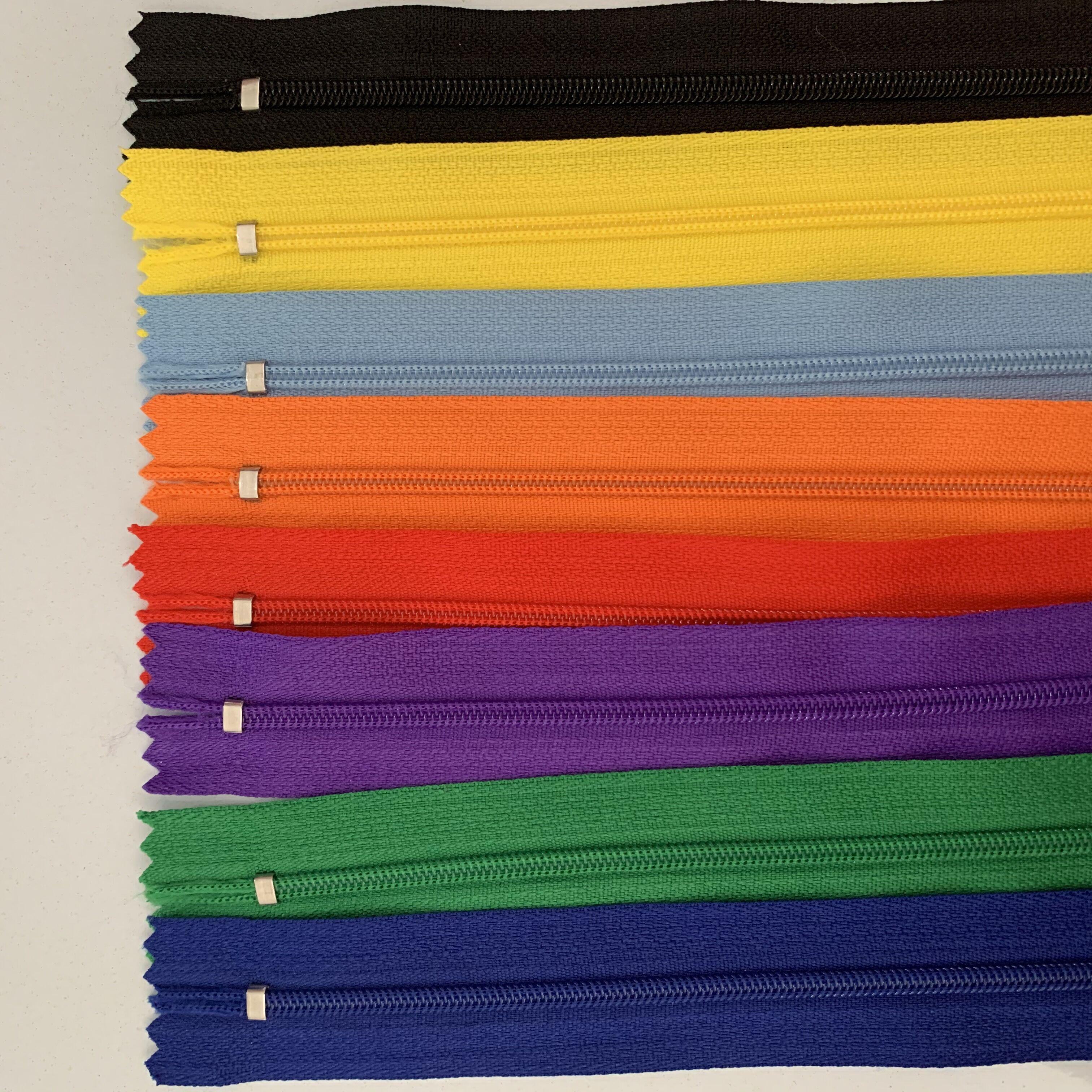 20шт (4-12 дюймов) 10-30 см нейлон катушки молнии Портной канализационные ремесло Крафтер (20 цвета)