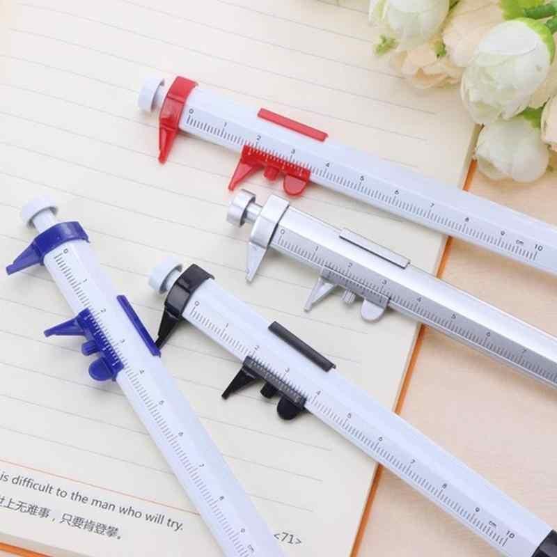 Kreatywny piśmienne pióro suwmiarka skala długopis piśmiennicze narzędzia wielofunkcyjne materiały pomiarowe Papelaria S6A9