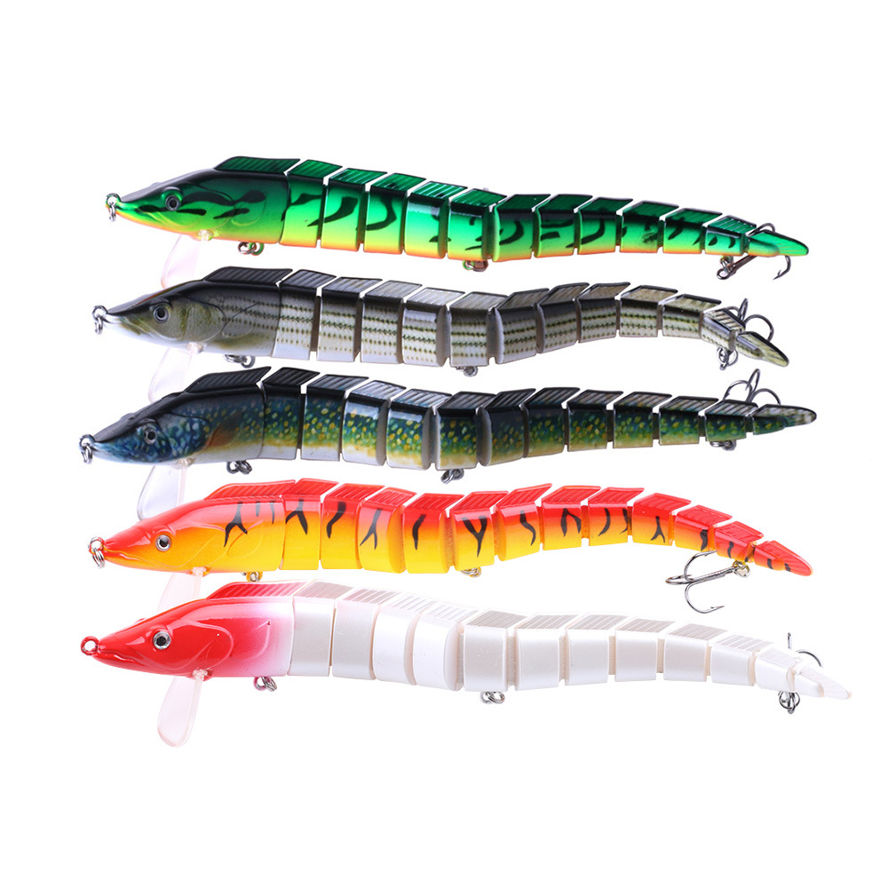 East Rain  Realistic Multi Segments Articulated Sections 23cm/46g  Bass Hard Fishing Lure Fishing Accessory Free Shipping