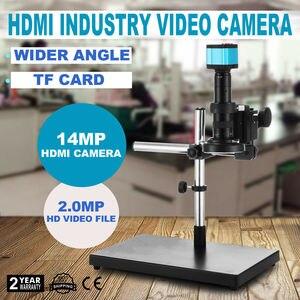 HDMI микроскоп 720P USB HD промышленный видео набор камеры C-mount объектив + подставка 14MP