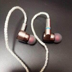 Image 5 - Tinhifi t2 fones de ouvido dupla unidade dinâmica de alta fidelidade baixo fone dj metal earplug com mmcx estanho alta fidelidade t3 p1 t2 n1 s2