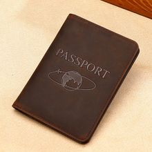 Drop Shipping New Passport ID Card Cover Holder RFID Blocking Genuine Leather Travel Case Protector Organizer