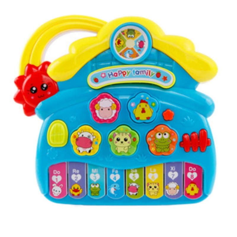 NEW Baby Farm Shaped Electronic Piano Children Animal Keyboard Educational Cartoon Musical Instrument Toy Random Color 1PC