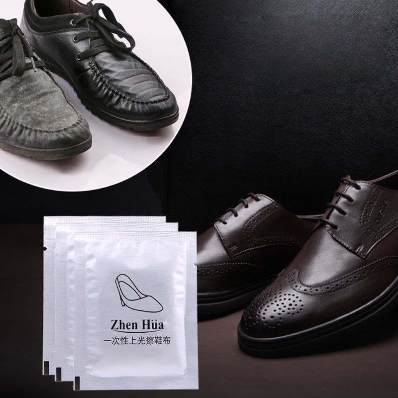 1Pc Disposable Leather Shoes Cleaning Tissue Individually Wrapped Wet Wipe Towel