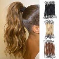 5 uds gancho de goma elástica Cola de Caballo bandas para pelo para mujer ganchos de goma para niñas accesorios herramientas de estilismo para el cabello bandas elásticas