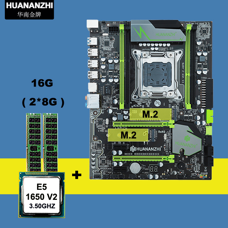 Computer hardware supply HUANAN ZHI X79 motherboard with M.2 slot CPU <font><b>Intel</b></font> <font><b>Xeon</b></font> <font><b>E5</b></font> <font><b>1650</b></font> <font><b>V2</b></font> 3.5GHz memory 16G(2*8G) 1600 REG ECC image