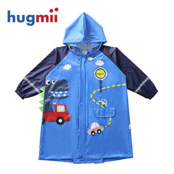 Long Kids Raincoat Outdoor Hooded Impermeable Waterproof Cartoon Children Raincoat Regenbroek Travel Portable Raincoat MM60YY