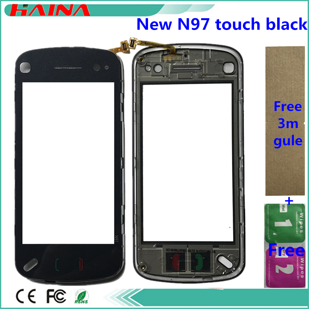 Free 3M And Touch Screen For Nokia N97 N 97 Touchscreen Digitizer Front Glass Touch Panel Sensor 3m Tape Touchpad