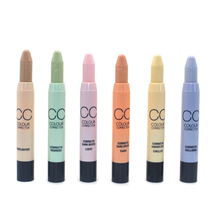 CC Color Corrector Automatic Rotation Concealer Pen Pencil Stick Camouflage Palette For Dark Circle Spot Acne Facial Care Makeup