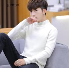 Winter Warm Turtle Neck Sweaters Men Thicken Fleece Long Sleeve Pullovers Soft Male High Neck Jumpers Knitwear