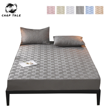 Bed-Cover 180x200 Topper QUILTED Fitted-Sheet Protection Bugs Elastic-Bed Cotton Thicken