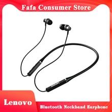 Lenovo-auriculares inalámbricos con banda para el cuello, dispositivo de audio estéreo, deportivo, magnético, impermeable, con reducción de ruido, Bluetooth, Original