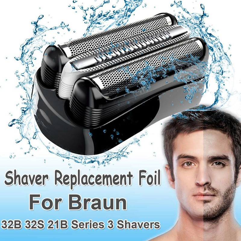 Shaver Replacement Blade Foil Head For Braun Series 3 32B 3090Cc 3050Cc 3040S 3020 340 320 Male Shaver Razor Black Head Foil Bea