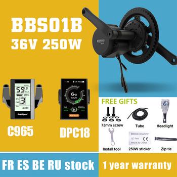 BAFANG 250W silnik typu middrive BBS01B 8fun 36V 250W zestaw do konwersji roweru elektrycznego bliski silnika MM340 250W z DPC18 C965 wyświetlacz tanie i dobre opinie CN (pochodzenie) Bezszczotkowy 36 v 201-300 w Silnik zawieszony z boku BAFANG BBS01 8fun 36V 250W MM G340 250 C965 DPC18