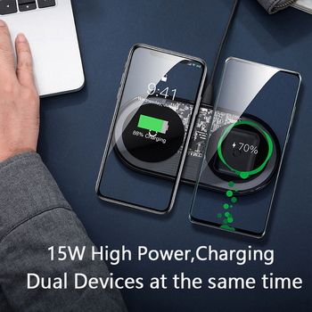 Baseus 15W Dual Wireless Charger for Phone Charging Pad