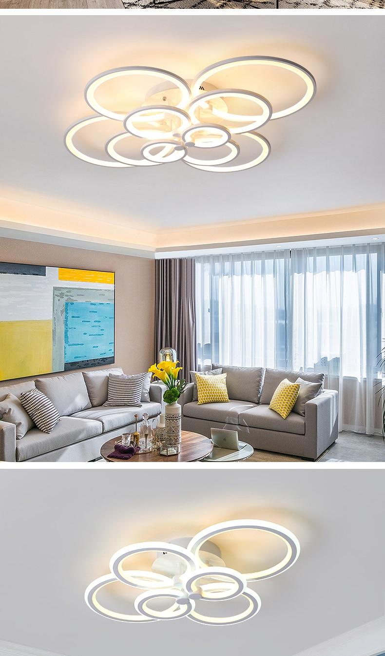H525407c0cdfd48c28d8c7eb1ff90396bF NEO Gleam RC Modern Led ceiling lights for living room bedroom study room ceiling lamp plafondlamp White Color AC 110V 220V