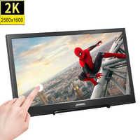 Monitor portátil para videojuegos, pantalla táctil de 10,1 pulgadas, 2K, ips, LED, LCD, 2560x1600, Mini HDMI, para PS3 4