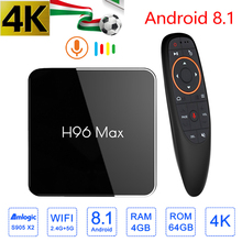 H96 MAX X2 Smart TV Box 4GB 64GB Android 8.1 Amlogic S905X2 4K USB3.0 1080P H.265 Set Top Box Google Player Store Youtube smart tv box android 8 1 h96 max x2 amlogic s905x2 4k media player 4gb 64gb h96max ddr4 tv box quad core 2 4g