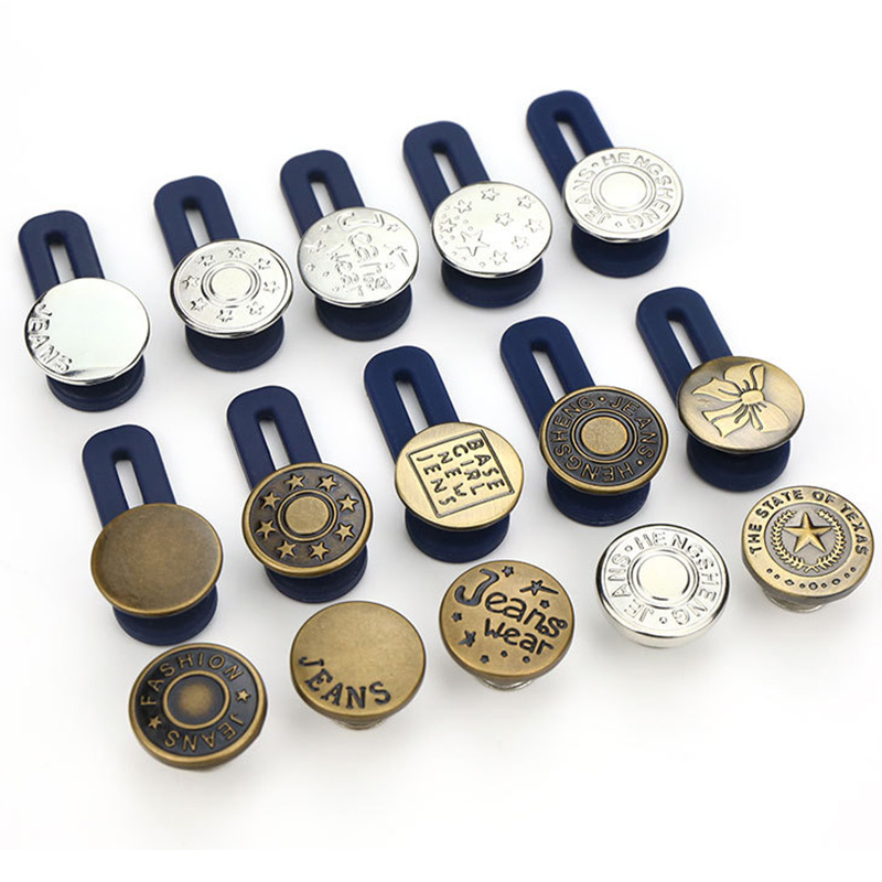 10Pcs Jeans Retractable Button Adjustable Detachable Extended Button For Pants