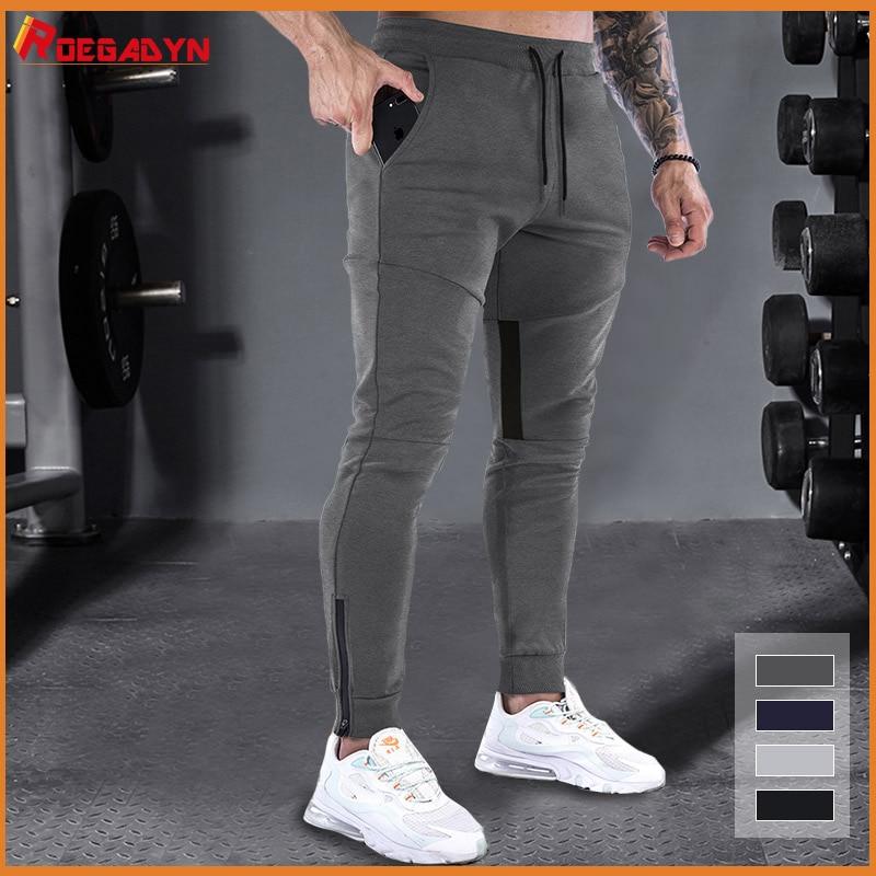 ROEGADYN Fitness Jogginghose Fuß Mund Zipper Design Jogging Hosen Männer Gym Running Training Atmungs Soprt Hosen Auntun Winter